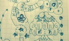 リイリとカロロ理科の実験ボールペン画