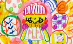 エミリーちゃんとボールクレヨン画
